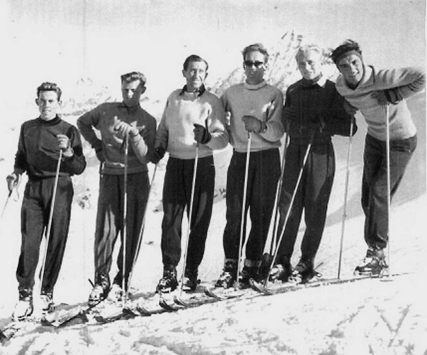 Österreichisches Skiwunderteam Kitzbühel Foto: Korn