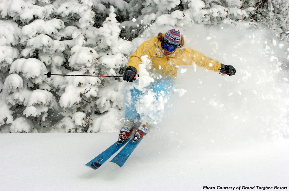 Grand Targhee Resort: powder skiingPhoto: Grand Targhee Resort