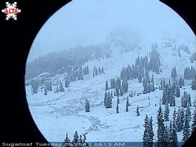 September 25th snow at Alta - ©Alta Ski Area