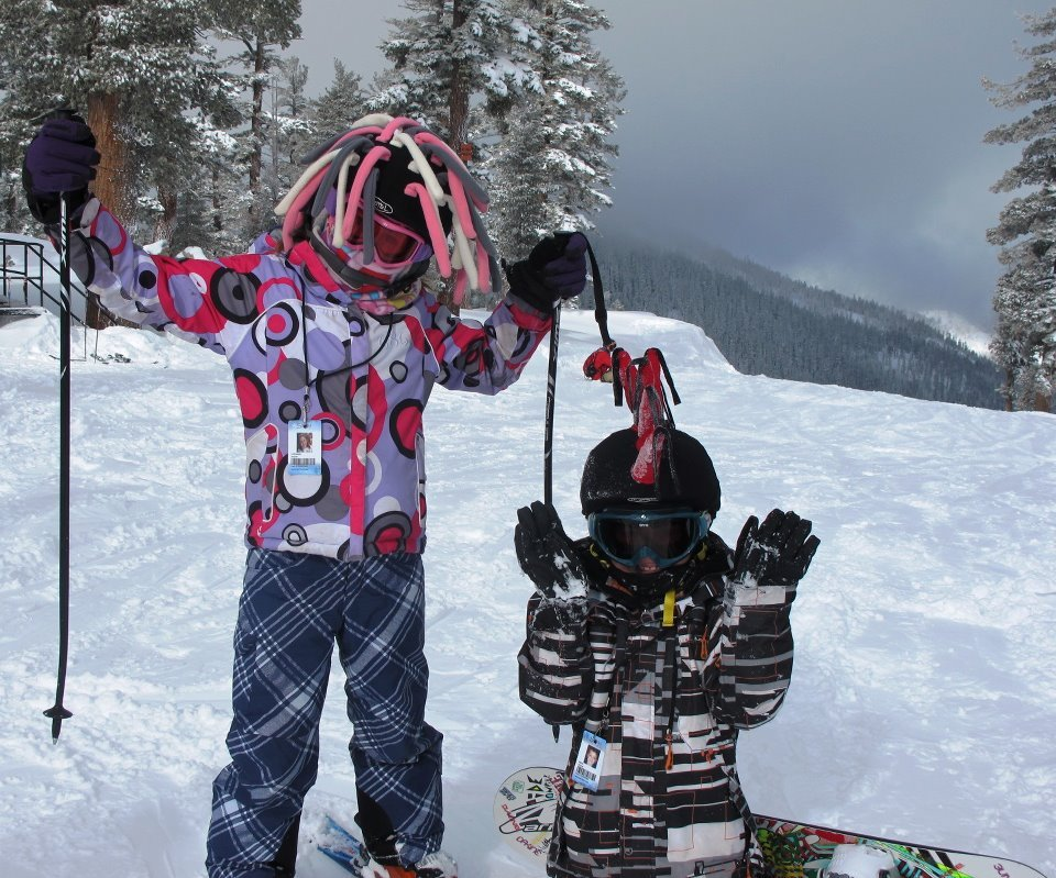 Kids enjoying the powder up at Sierra-at-Tahoe last season