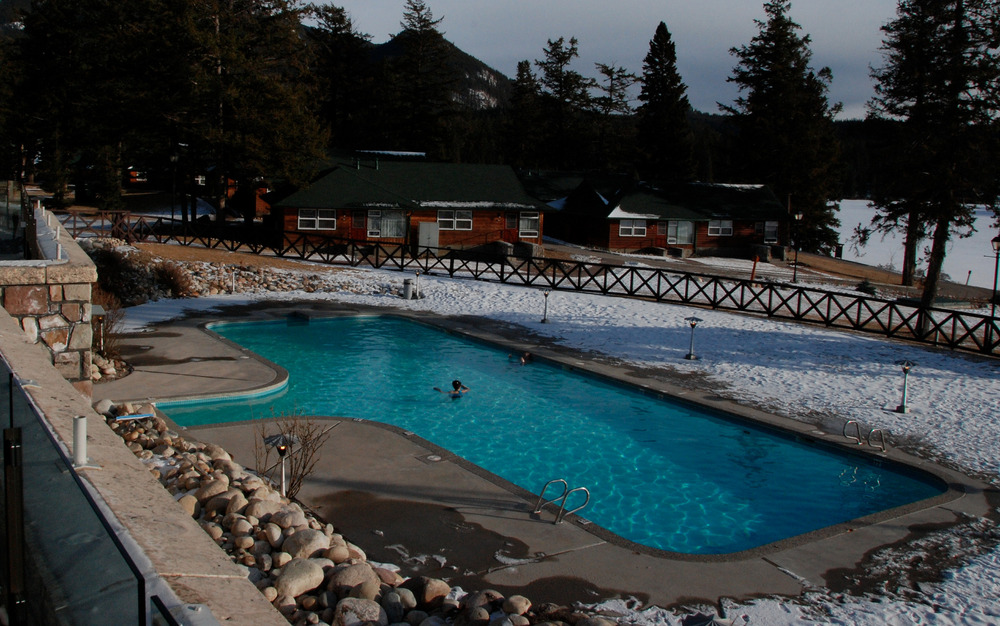 Jasper Park Lodge in Jasper, Alberta, features a spa and outdoor heated pool. Photo by Becky Lomax. - ©Becky Lomax