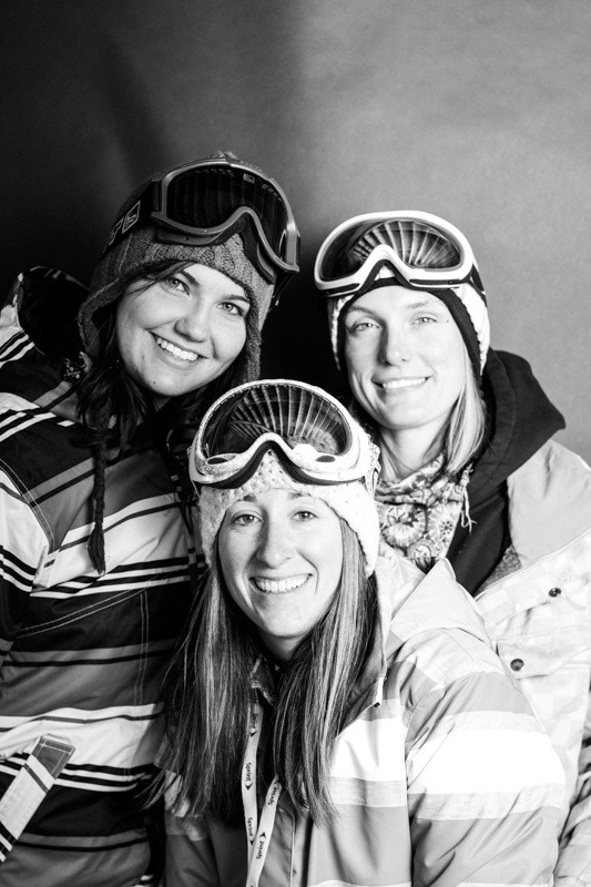 Miranda Barcia, Ricci Lambeert, Amy White / Arapahoe Basin Opening Day 2012 - ©Liam Doran