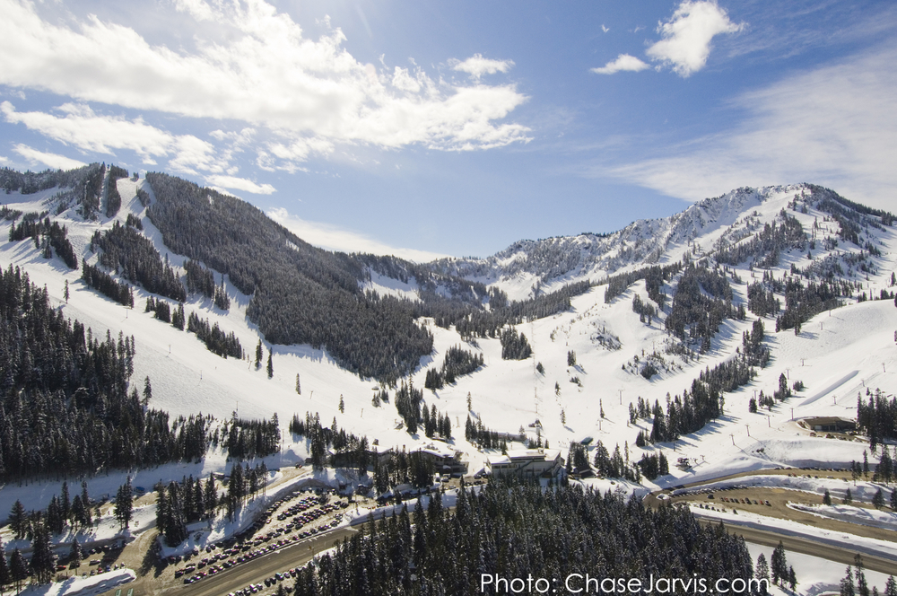 Stevens Pass Ski Area garners hefty Cascade Mountain snowfall. Photo by Chase Jarvis, courtesy of Stevens Pass Ski Area.