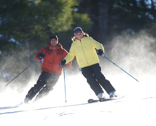 Skiers enjoy perfect conditions at Pats Peak. Photo Courtesy of Pats Peak