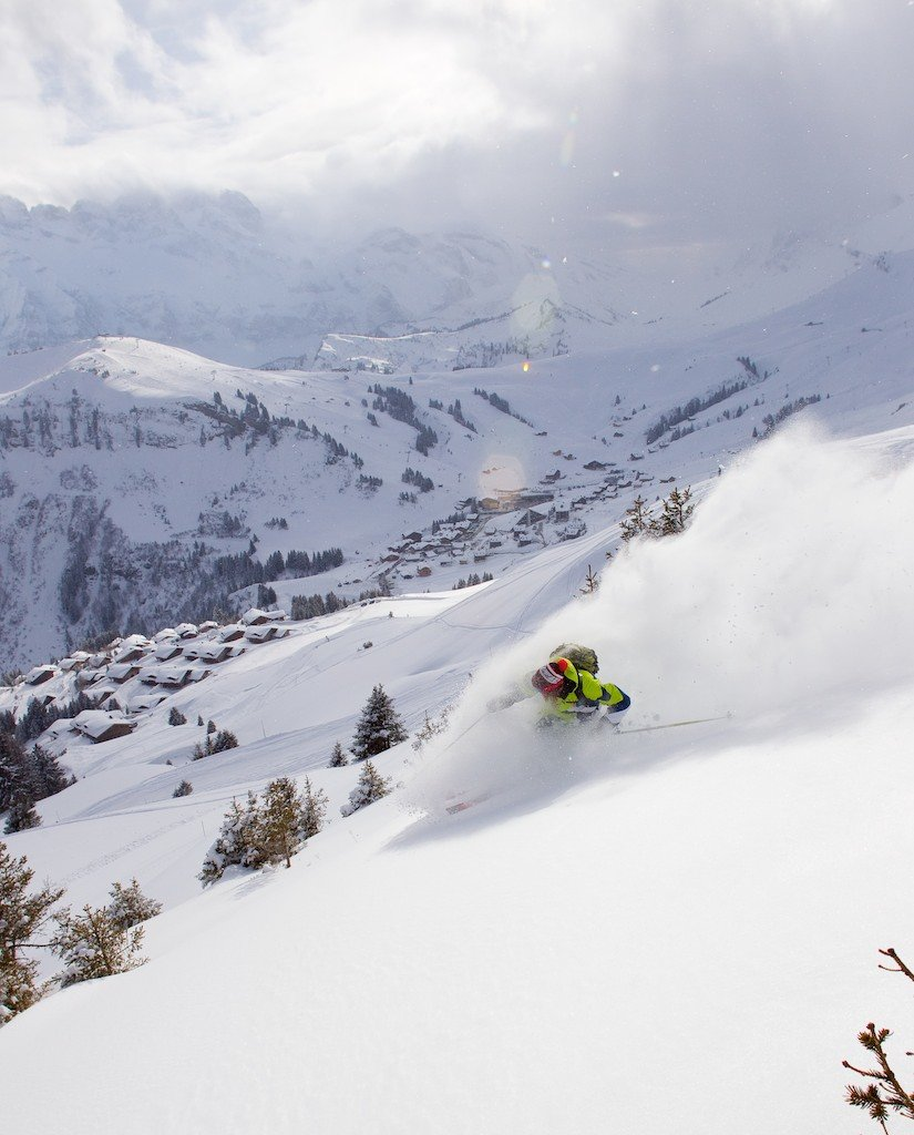 Freeriding in Champery, Portes du Soleil, France - ©Champery Tourist Office