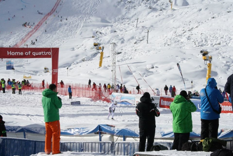 Ski World Cup opening on Solden glacier Oct. 28