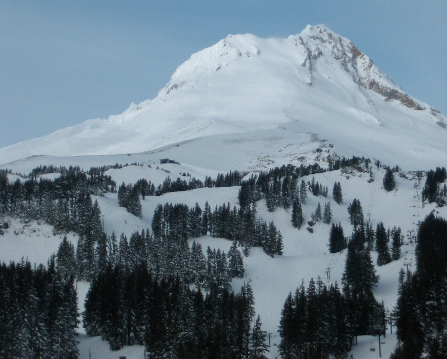 Mt. Hood rises above Mt. Hood Meadows. Photo by mp3ief/Flickr. - ©mp3ief/Flickr