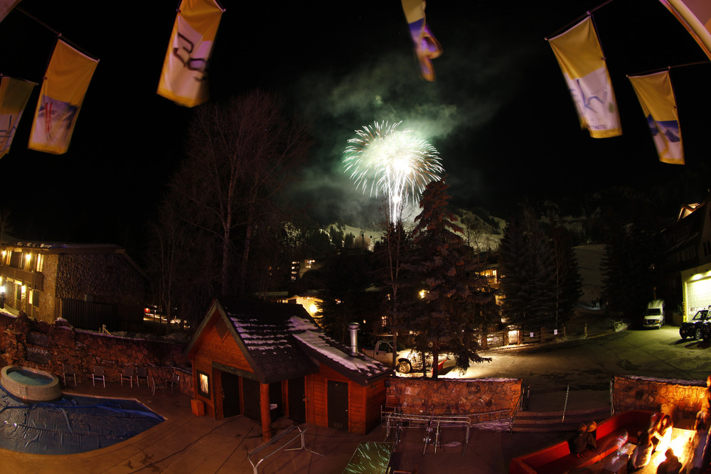 Fireworks over Aspen Mountain