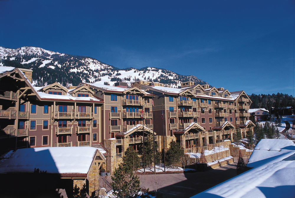 The hotel sits right on the edge of Jackson Hole Ski Resort
