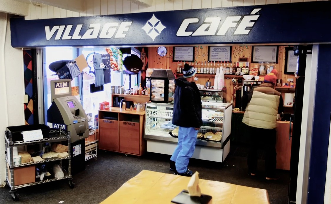 The Village Cafe is a perfect place to grab a burrito before a day on the mountain.