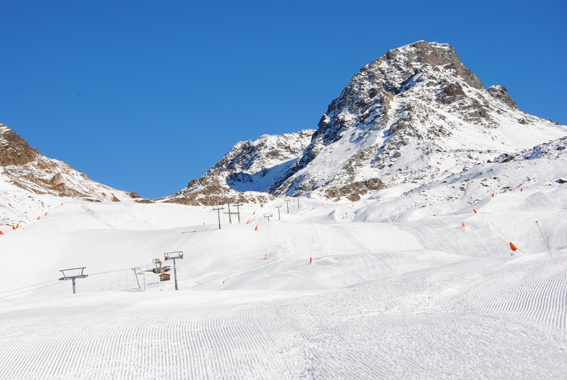 Good layer of snow on the slopes of Ischgl. Photo taken Nov. 13, 2012.
