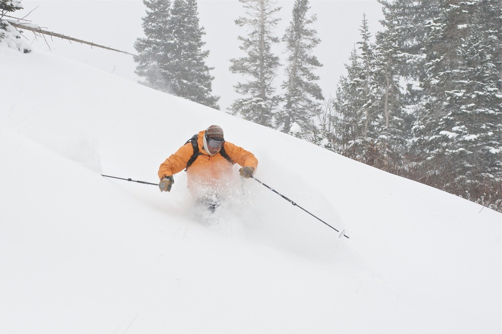 Billy Rankin getting early season powder turns in 2012 at Irwin - ©Irwin Colorado