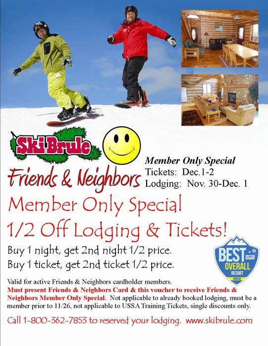 Friends & Neighbor Member Only Special This Weekend