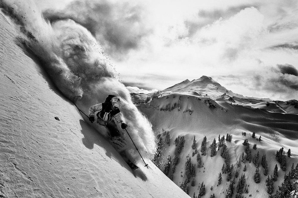 Adam Ü skiing in the Mt. Baker Backcountry - ©Grant Gunderson