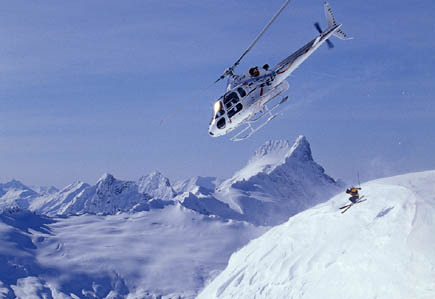 The chopper at Mica Heli-Skiing. - ©Henry Georgi