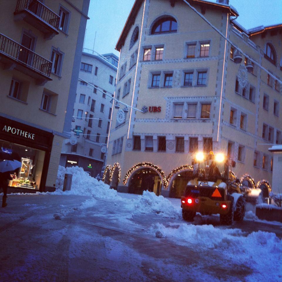 Snowing in St. Moritz. Nov. 29, 2012
