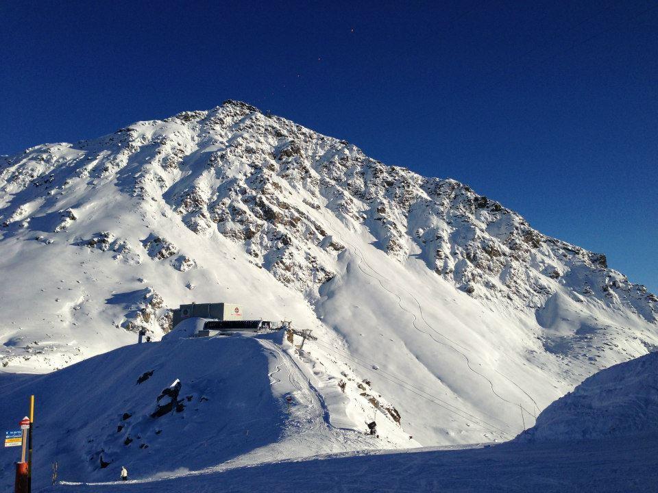 Blue skies and powder in Verbier. Dec. 4, 2012