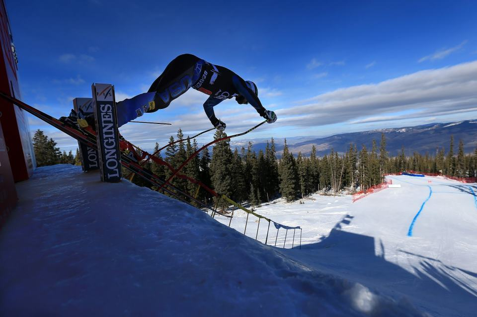 A sneak peak at the start gate from the next stop on the tour: The Birds of Prey Downhill at Beaver Creek.