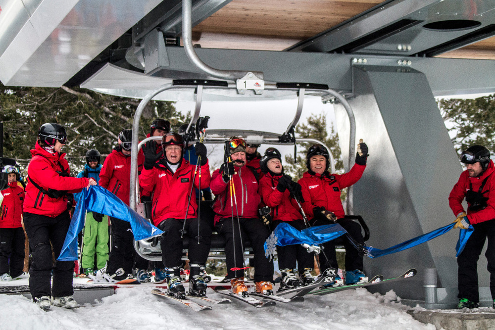 First chair on the new Casper lift at Jackson Hole. Photo by Julie Weinberger/Jackson Hole Mountain Resort.