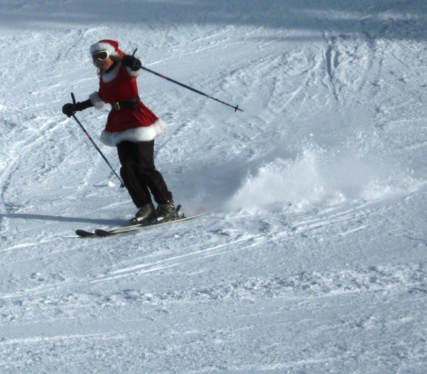 Santa Ski Crawl at Mt Rose