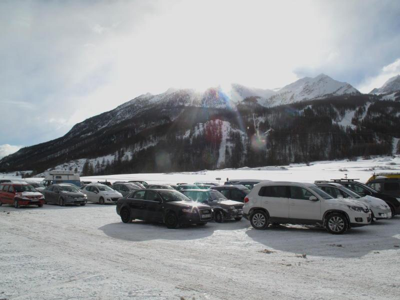 Serre Che parking lot. Dec. 8, 2012 - ©Serre Chevalier