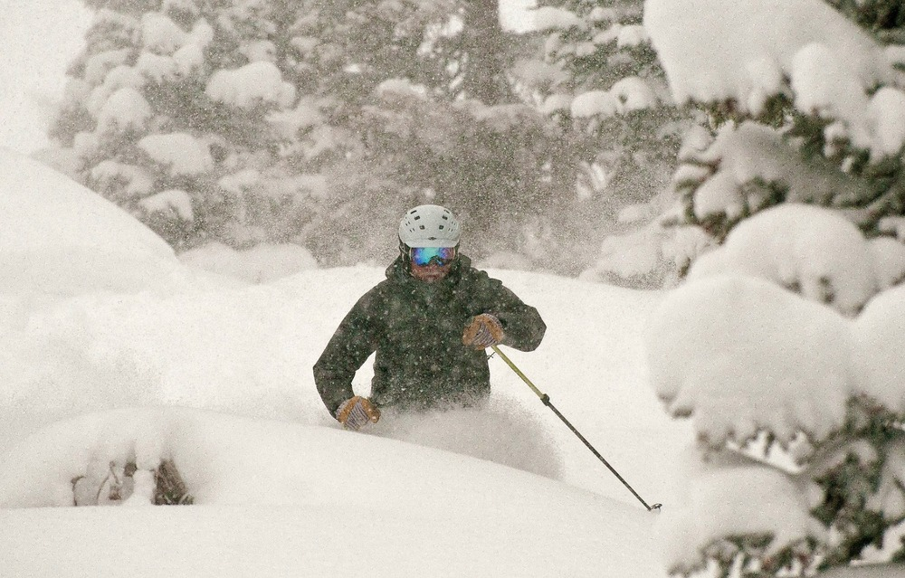 Deep Powder with Eric Rasmussen, owner of Mountain Nomads at Wolf Creek, Dec. 15, 2012.