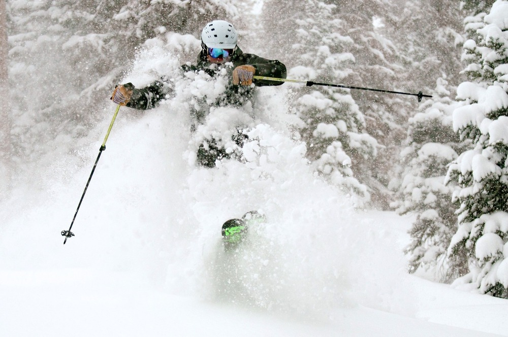 Wolf Creek was DEEP on Dec. 15, 2012. Just ask Eric Rasmussen. - ©Josh Cooley