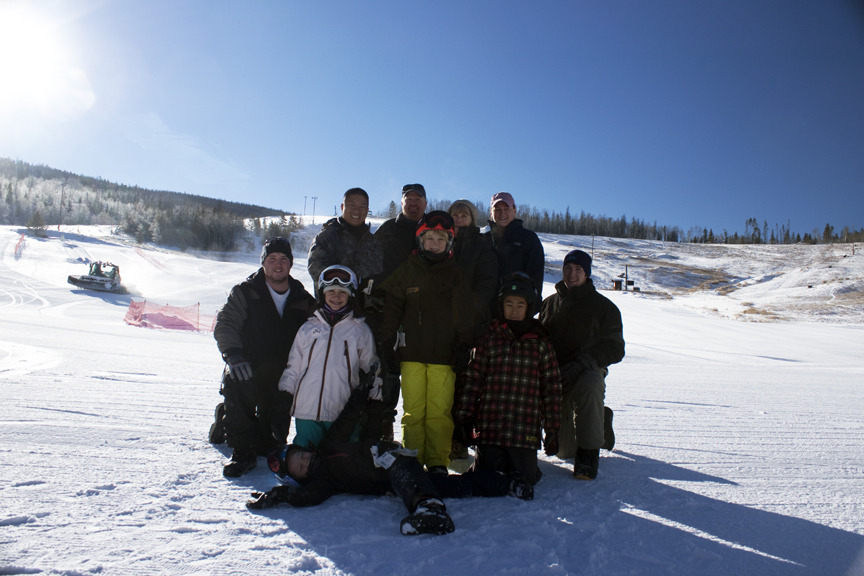 Family at Ski Granby Ranch.