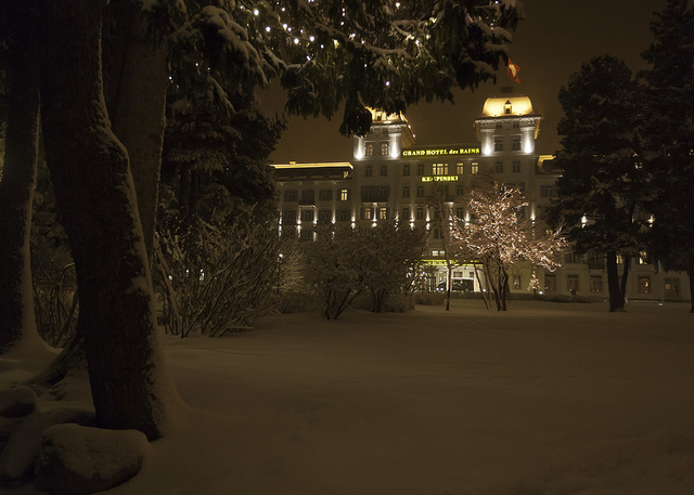 The five-star Kempinski Grand Hotel des Bains in St Moritiz 