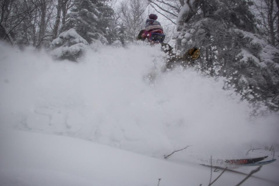 Jay Peak's legendary glades are skiing DEEP. 12/27/2012
