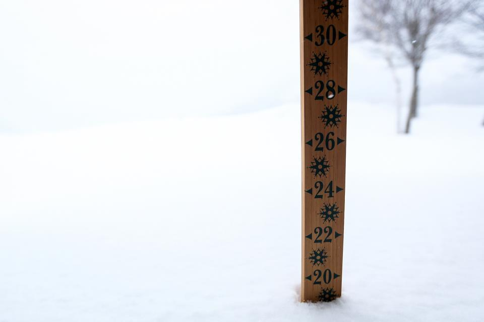 The snow stake at Killington Mountain, 12/27/2012.