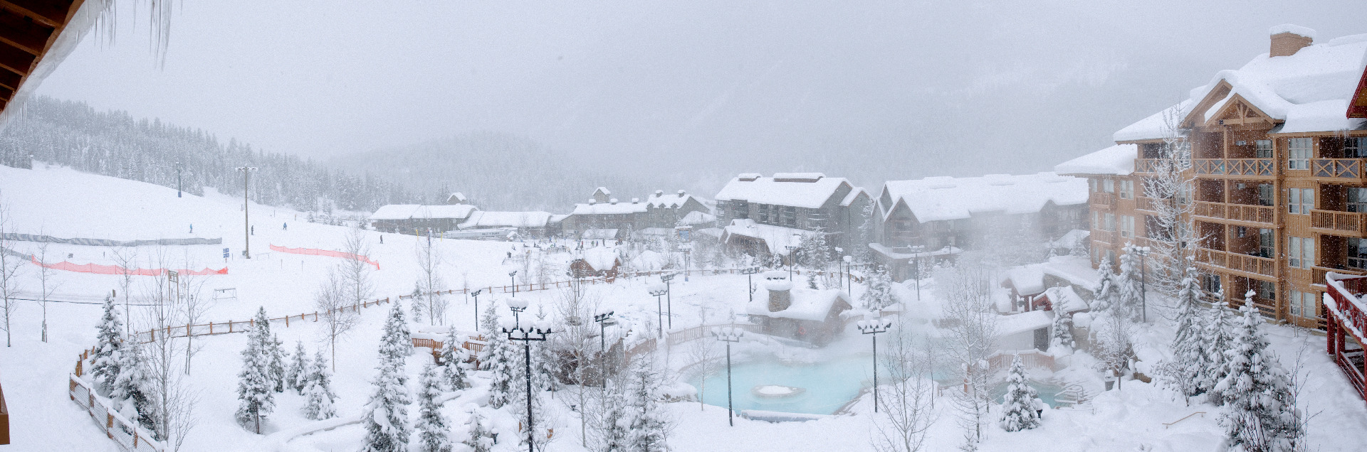 Panorama Mountain Village, BC: village and pools. Photo courtesy of Panorama Mountain Village.