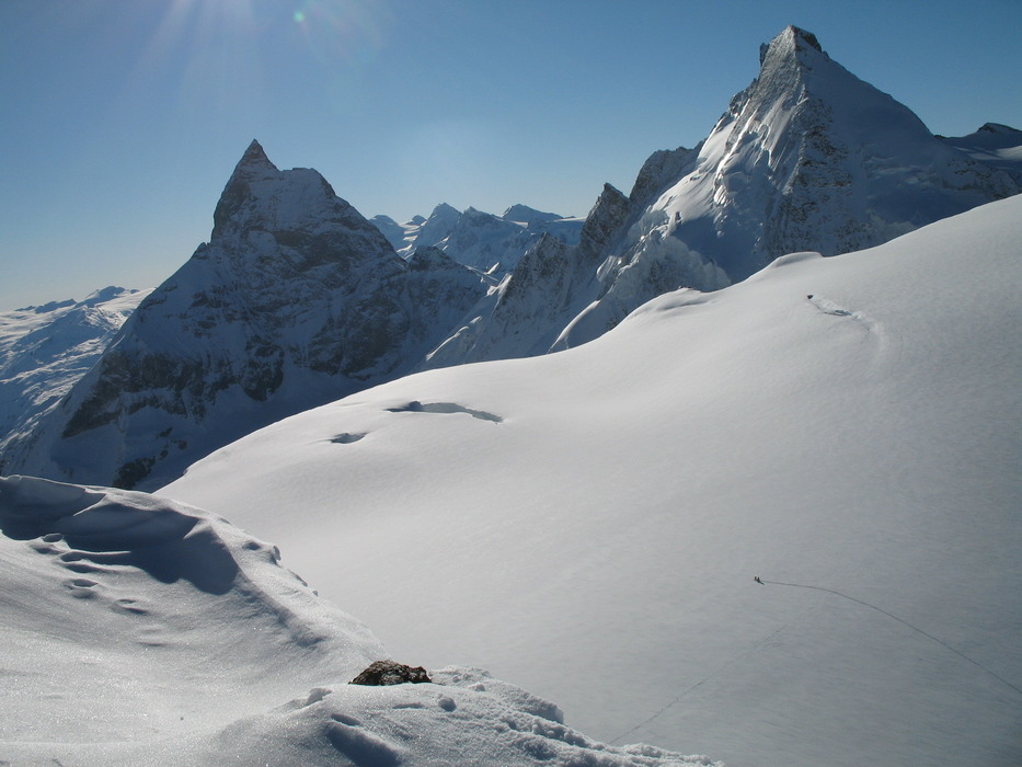 Powder on the Vallee Blanche, Chamonix