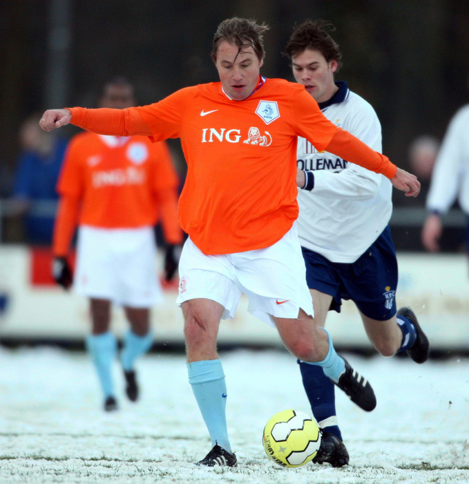 Dutch footballer Rob Witschge during Arosa IceSnow Football 2012 - ©Arosa