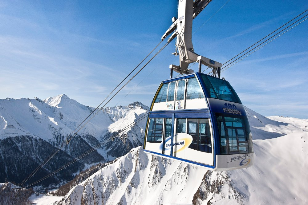 The world's first double decker gondola linking Ischgl and Samnaun