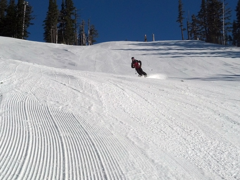 Groomer run at Mt. Hood Meadows. Photo by Krissy Fagan, courtesy of Mt. Hood Meadows.