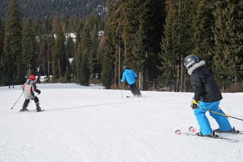 Learning to ski at Brundage. Photo courtesy of Brundage Mountain Resort.