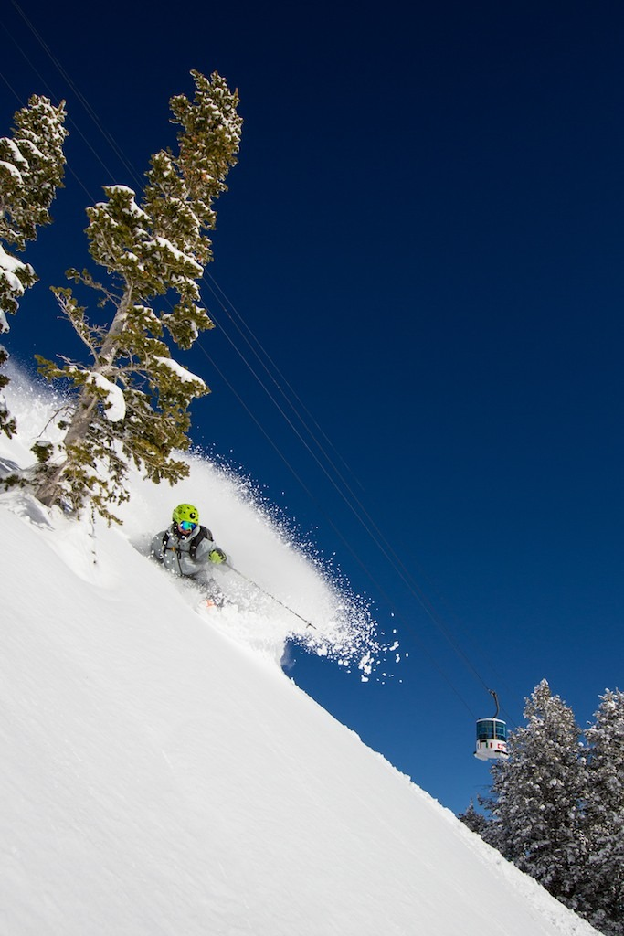 Our guide Alex Romashko finds fresh snow days after the last storm.  - ©Liam Doran