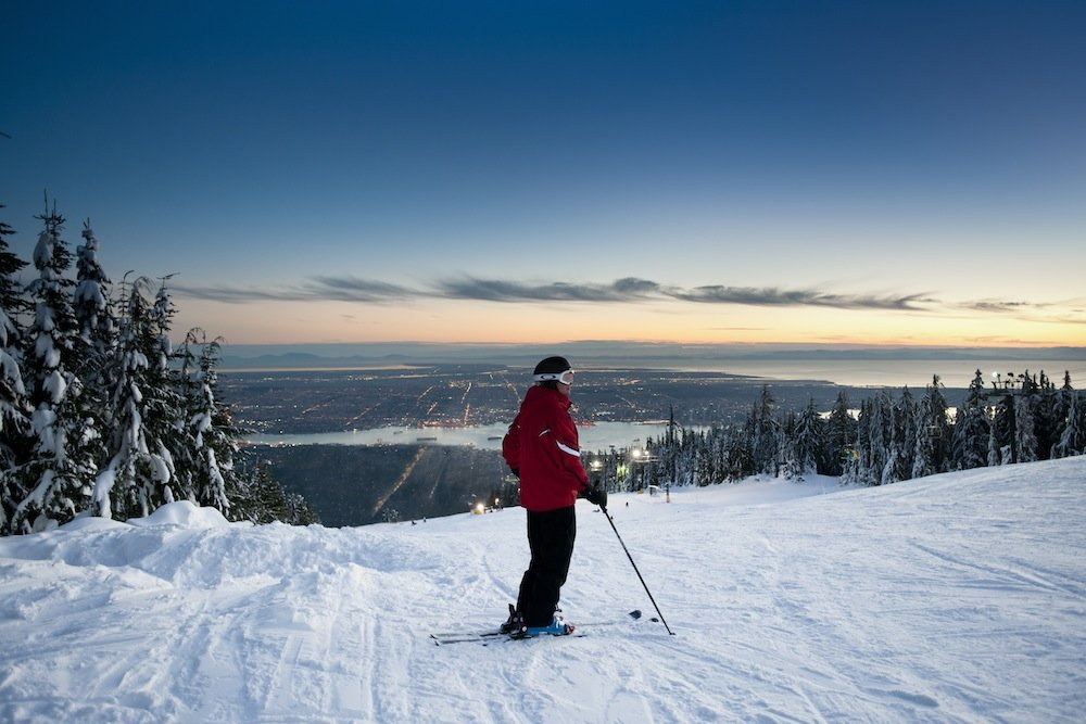 Skiing at Grouse. Photo courtesy of Grouse Mountain.
