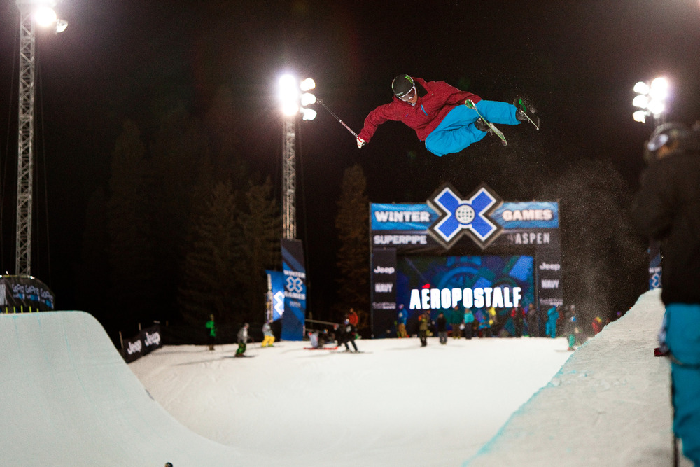 Ski superpipe. Men's finals are on Friday at 8:30 pm on ESPN
