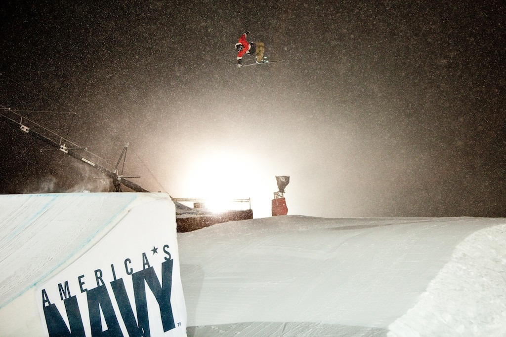 Big Air practice session in the snow. - ©Jeremy Swanson
