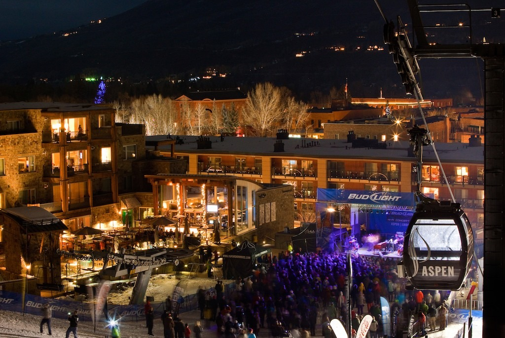 Free Aspen/Snowmass Bud Light HiFi concert featuring Mutemath at the base of Aspen Mountain in celebration of X Games.