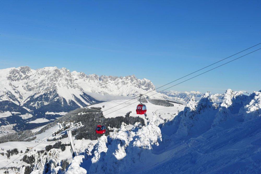 Perfect ski day at Wilder Kaiser