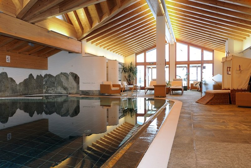 Wellness area at the Riffelalp Resort, Zermatt