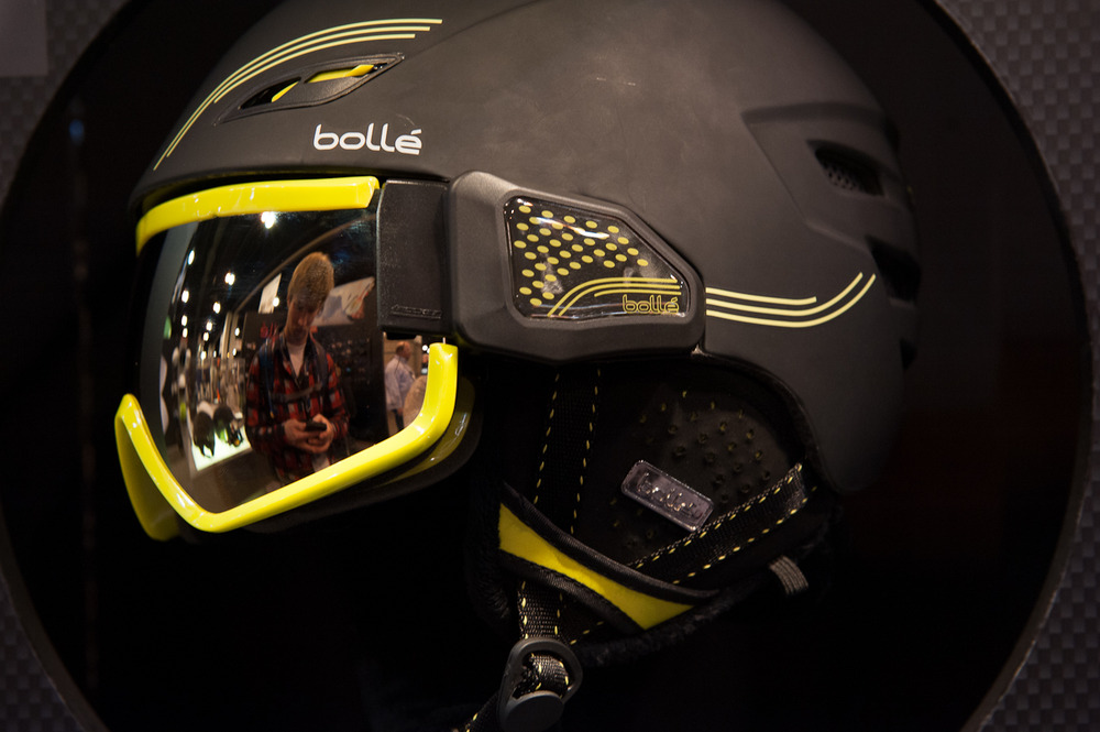 The Bollé Osmoz goggle integrated helmet comes with the Bollé's Rocken lens system as well as an interchangeable lens.