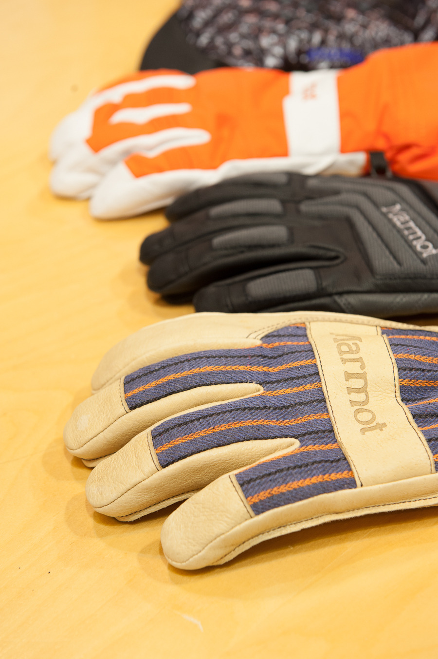 The collection of Marmot Armageddon gloves have Polartec Alpha as well as Marmot driClimb lining. The leather is washable and has reinforced foam padding. 