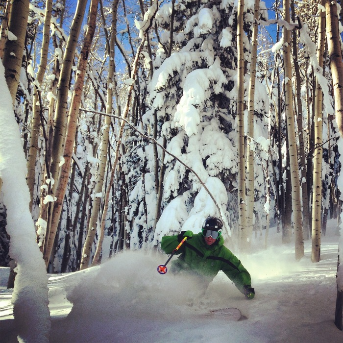 Great powder skiing at Powderhorn. - ©Casey Day