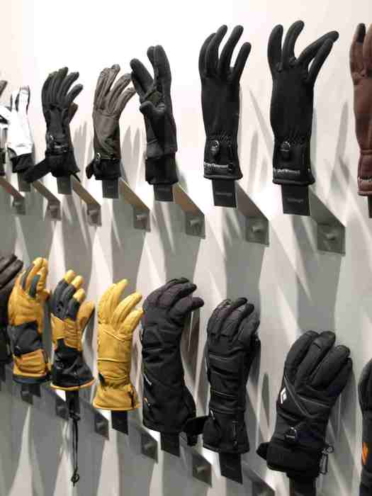 gloves at Black Diamond stand at ISPO Munich 2013  - ©Juliane Matthey