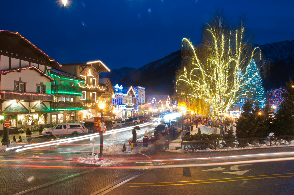 The Bavarian town of Leavenworth offers lodging for skiing Stevens Pass. Photo by Doug Pieper/Flickr.
