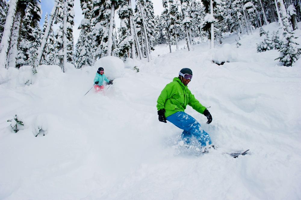 Whistler Blackcomb: a powder day.   Photo by Mike Crane, courtesy of Whistler Tourism.